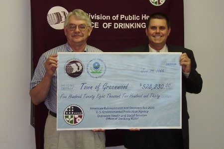 Town of Greenwood receives ARRA funds