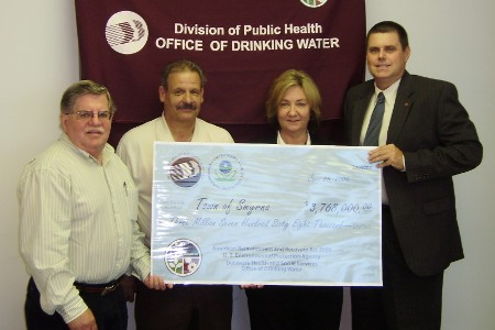 Town of Smyrna receives ARRA funds