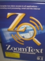 Photo: Photograph of ZoomText Magnifier/Reader software - boxed version
