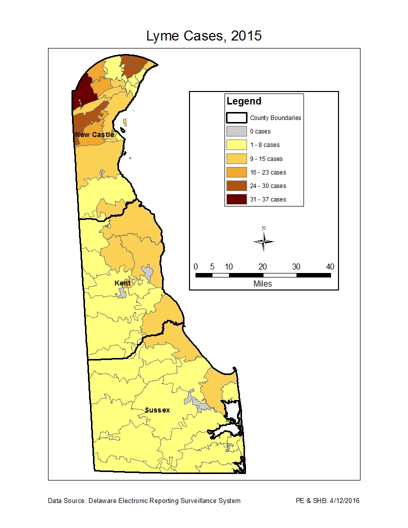 Lyme Disease Information Delaware Health And Social Services - Us map of lyme disease